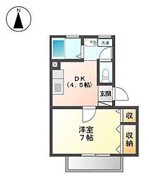 アネックスサンフラワ−[2階]の間取り