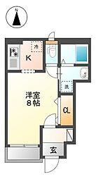 E・Mグローリア[1階]の間取り