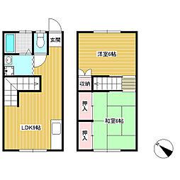 [テラスハウス] 長野県飯田市松尾城 の賃貸【/】の間取り