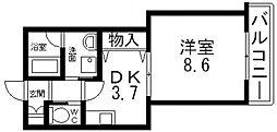 エバーグリーン長田[303号室号室]の間取り