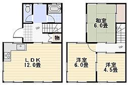 [テラスハウス] 神奈川県逗子市桜山1丁目 の賃貸【神奈川県 / 逗子市】の間取り
