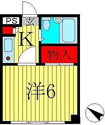 オークヒル・ハヤマ[301号室]の間取り