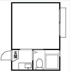 ホワイトビラ新蒲田[1階]の間取り