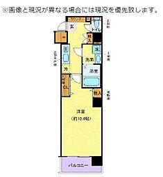 東京臨海高速鉄道りんかい線 東雲駅 徒歩7分の賃貸マンション 6階1Kの間取り