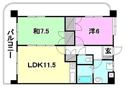 UTARA  HOUSE[401 号室号室]の間取り