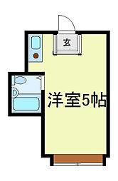パシフィック阿倍野[3階]の間取り