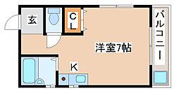 兵庫県神戸市須磨区磯馴町3丁目の賃貸マンションの間取り
