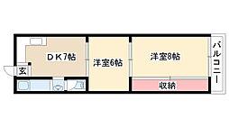 愛知県名古屋市南区赤坪町の賃貸マンションの間取り