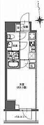 都営新宿線 馬喰横山駅 徒歩9分の賃貸マンション 6階1Kの間取り