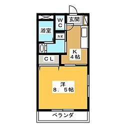 茶花[2階]の間取り