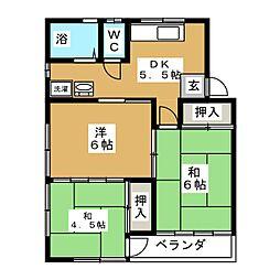 里善苑[2階]の間取り