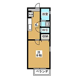 グリーンヒルズ浄土寺[2階]の間取り