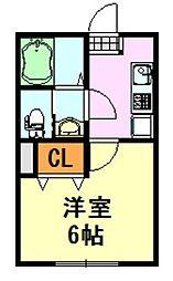 フォルビテッツァ松ヶ丘[208号室]の間取り
