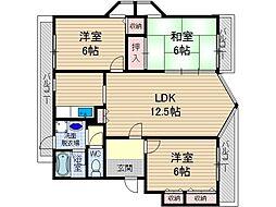 第2コーポタカイ[2階]の間取り