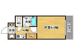 福岡県福岡市博多区新和町2丁目の賃貸マンションの間取り