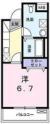 グレイスフル八雲[3階]の間取り