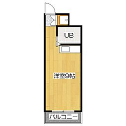 レオ松本[3階]の間取り