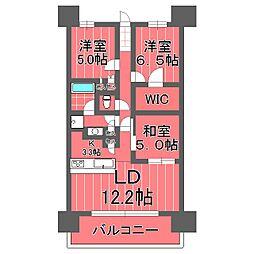 ライオンズ横浜新子安ハーバーコート[7階]の間取り
