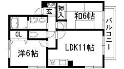 クレール花屋敷[2階]の間取り