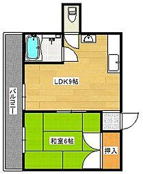 グランシャトー北加賀屋[1階]の間取り