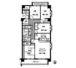 コンフォール武庫川[3階]の間取り