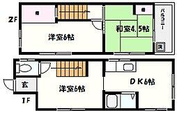 [一戸建] 兵庫県芦屋市浜町 の賃貸【/】の間取り