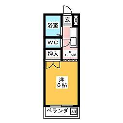 コーポラス戸崎II[1階]の間取り