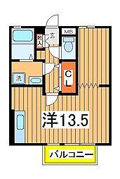 千葉県柏市東中新宿1丁目の賃貸アパートの間取り
