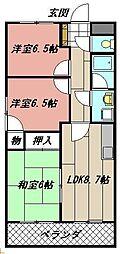 サンローゼ本城東[202号室]の間取り