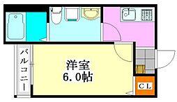 THE HOUSE 船橋前原[203号室]の間取り