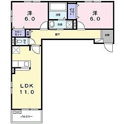 ブルック スクエア[2階]の間取り