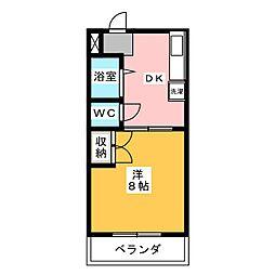 ハイツパビリオ I[3階]の間取り
