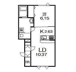 緑が丘東4−1新築[105号室]の間取り