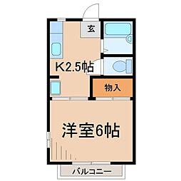 ビーバレーMII[2階]の間取り