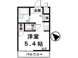 un ange1[4-E号室]の間取り