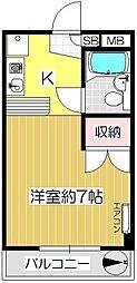キャピタルシティキノシタ[305号室]の間取り