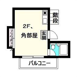エステー生田2[2階]の間取り