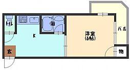 ピュアスモトA棟[4階]の間取り