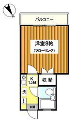 ドリームハイツ三ッ沢II[204号室]の間取り