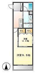 Sun Heart 池下(サンハート)[5階]の間取り