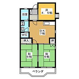 ファミール N[2階]の間取り