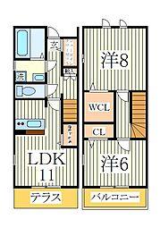 GRANDIR KASHIWATANAKA F棟[1階]の間取り