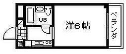 ラ・ピーヌ久米田[104号室]の間取り