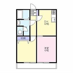青山コーポC[1階]の間取り
