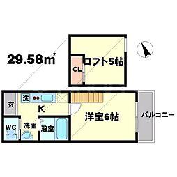 アルファステージ中森2[2階]の間取り
