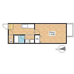 HOUSE I ROKUBANKAN[2-C号室]の間取り