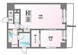 レジデンシャルスター浅草[2階]の間取り