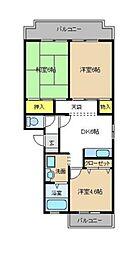 神奈川県横浜市泉区西が岡1丁目の賃貸マンションの間取り