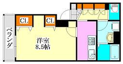 LivLi・ベルカーサYUHI[105号室]の間取り