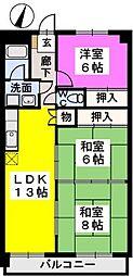 クレストG34[6階]の間取り